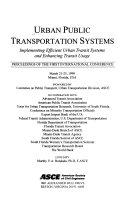 Urban Public Transportation Systems