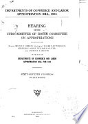 Departments of Commerce and Labor Appropriation Bill  1924 Book