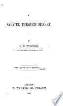 A saunter through Surrey Book
