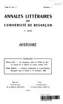 Annales Litteraires de L'universite de Bescancon 2nd Serie