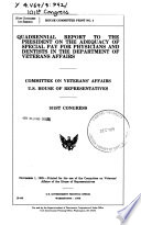 Quadrennial Report to the President on the Adequacy of Special Pay for Physicians and Dentists in the Department of Veterans Affairs