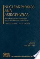 Nuclear Physics and Astrophysics