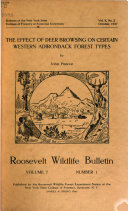 Roosevelt Wild Life Bulletin     of the Roosevelt Life Forest Experiment Station of the New York College of Forestry at Syracuse University