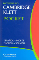 Diccionario Cambridge Klett Pocket Espa  ol Ingl  s English Spanish Flexicover
