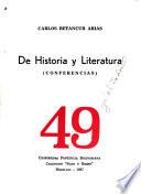 De Historia Y Literatura