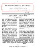 American Foundation News Service