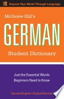 McGraw-Hill's German Student Dictionary