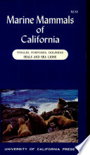 Marine Mammals of California Book