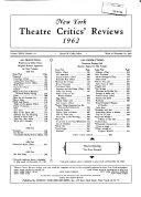 New York Theatre Critics  Reviews