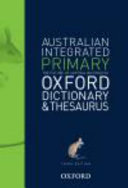 Cover of Australian Primary Integrated Dictionary and Thesaurus