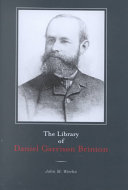 The Library of Daniel Garrison Brinton