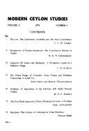Modern Ceylon Studies Book PDF