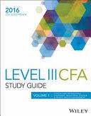 Wiley Study Guide for 2016 Level III CFA Exam