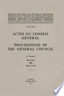 Actes Du Conseil G N Ral Proceedings Of The General Council