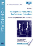 Management Accounting-Performance Evaluation