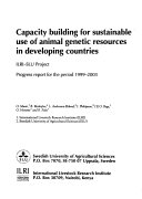 Capacity Building for Sustainable Use of Animal Genetic Resources in Developing Countries