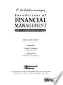 Study Guide to Accompany Foundations of Financial Management, Fifth Canadian Edition
