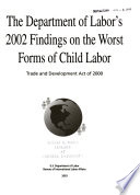 The Department of Labor's 2002 Findings on the Worst Forms of Child Labor