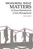 Measuring what matters in peace operations and crisis management Book PDF