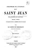 Paraphrase de l'Évangile selon Saint Jean par Nonnos de Panopolis. Rétablie, corrigée et trad. pour la première fois en français