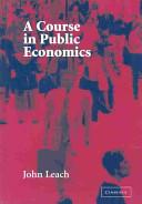 Cover of A Course in Public Economics