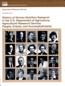 History of Human Nutrition Research in the U  S  Department of Agriculture