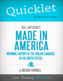 Quicklet on Bill Bryson's Made in America: An Informal ...