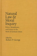 Natural Law and Moral Inquiry