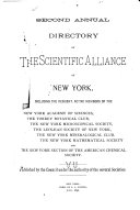 Annual Directory of the Scientific Alliance of New York