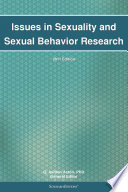Issues in Sexuality and Sexual Behavior Research  2011 Edition Book
