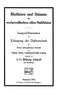 Blutlinien und Stämme des westpreussischen edlen Halbblutes ebook