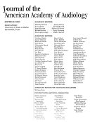 Journal of the American Academy of Audiology Book