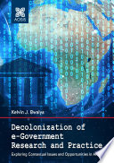 Decolonization Of E Government Research And Practice