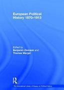 European Political History 1870 1913