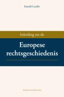 Inleiding tot de Europese Rechtsgeschiedenis