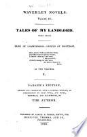 Tales Of My Landlord Third Series Bride Of Lammermoor Legend Of Montrose