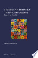 Strategies of adaptation in tourist communication