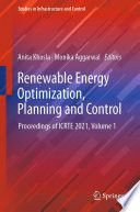 Renewable Energy Optimization  Planning and Control