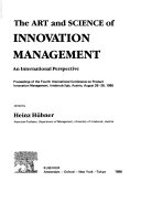 The Art and Science of Innovation Management Book