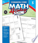 Common Core Math 4 Today  Grade 5 Book