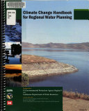 Climate Change Handbook For Regional Water Planning