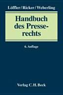Handbuch des Presserechts