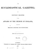 Pdf The Ecclesiastical gazette, or, Monthly register of the affairs of the Church of England