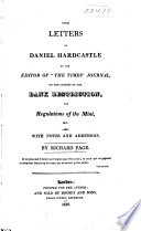 The Letters of Daniel Hardcastle to the Editor of  The Times  Journal