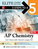 5 Steps to a 5  AP Chemistry 2019 Elite Student Edition