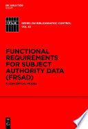 Functional Requirements for Subject Authority Data  FRSAD