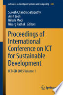 Proceedings Of International Conference On Ict For Sustainable Development Book PDF
