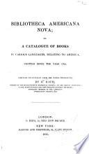Bibliotheca Americana Nova