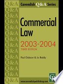 Commercial Law Q and A 2003-2004