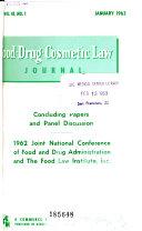 Food Drug Cosmetic Law Journal Book PDF